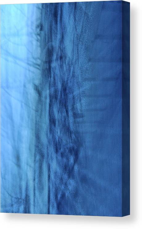 Abstract Canvas Print featuring the photograph Icy Blues by Heather S Huston