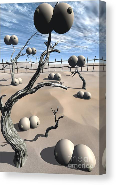 Humor Canvas Print featuring the digital art Imm Plants by Richard Rizzo