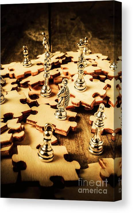 Chess Canvas Print featuring the photograph In Art Of Competition by Jorgo Photography - Wall Art Gallery