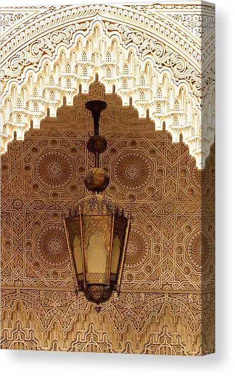 Oriental Plasterwork Canvas Print featuring the photograph Islamic Plasterwork by PIXELS XPOSED Ralph A Ledergerber Photography
