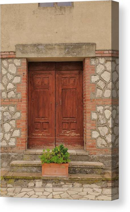 Italy Canvas Print featuring the photograph Italy Door - Twenty Six by Jim Benest