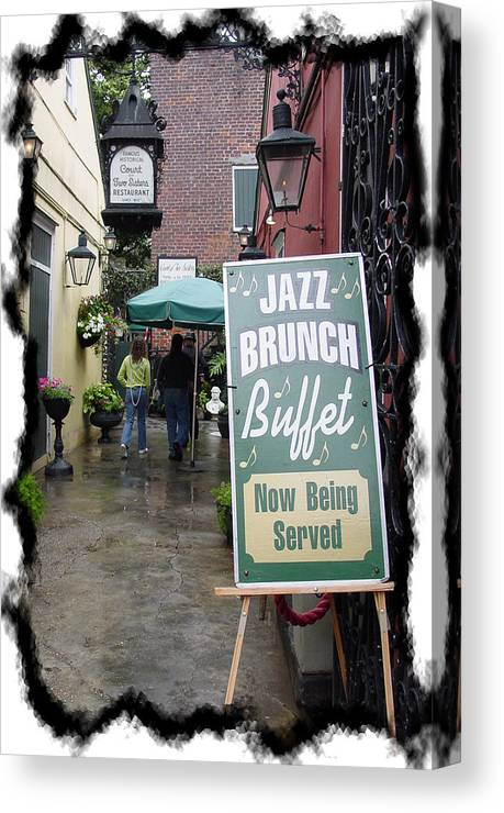 New Orleans Canvas Print featuring the photograph Jazz Brunch by Linda Kish
