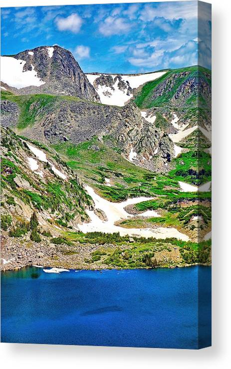 King Lake Canvas Print featuring the photograph King Lake At Rollins Pass T by Robert Meyers-Lussier