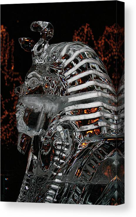 Canvas Print featuring the photograph King Tut In Ice by Laurie Prentice
