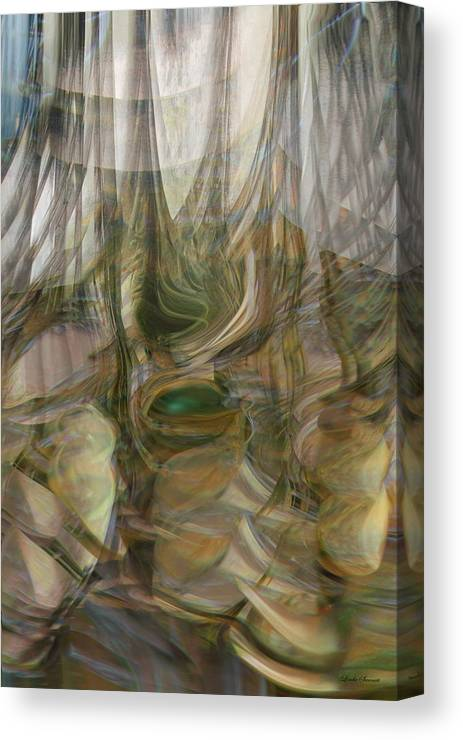 Abstract Art Canvas Print featuring the digital art Life Forms by Linda Sannuti