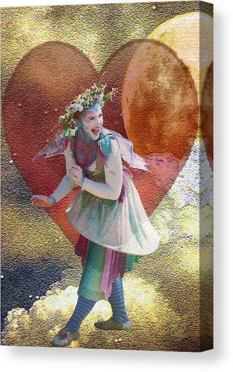 Love Canvas Print featuring the digital art Love Light Laughter by Shawna Dockery