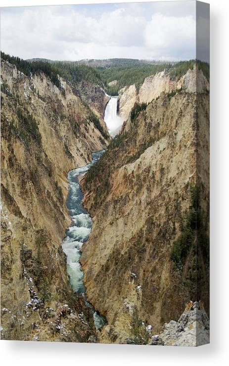 Waterfall Canvas Print featuring the photograph Lower Falls by Reva Dow
