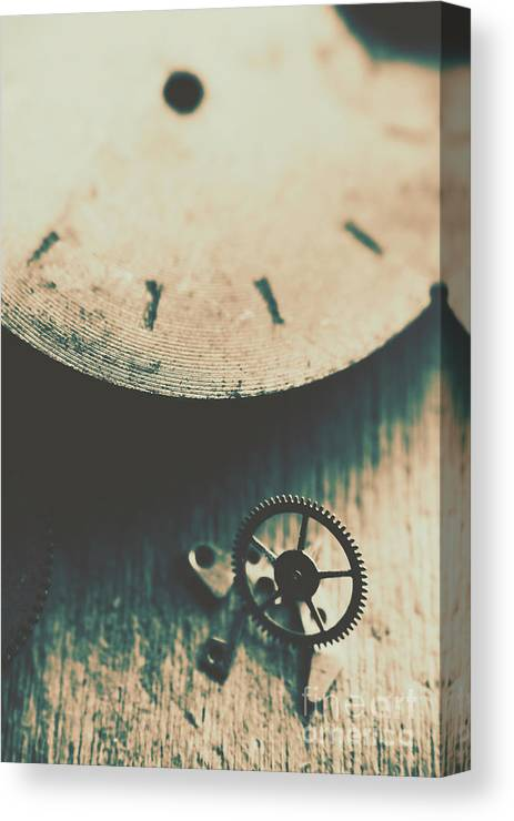 Gear Canvas Print featuring the photograph Machine Time by Jorgo Photography - Wall Art Gallery