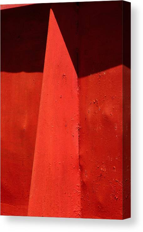 Red Canvas Print featuring the photograph Mask by Art Ferrier