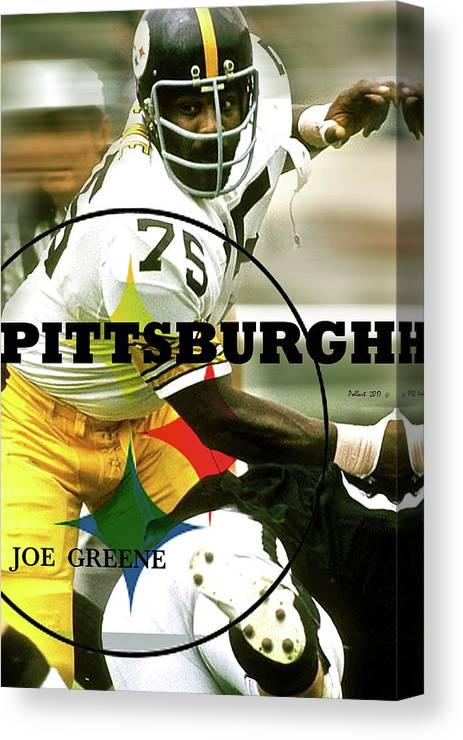 3ea65b7c0 Mean Joe Green Canvas Print featuring the mixed media Mean Joe Green