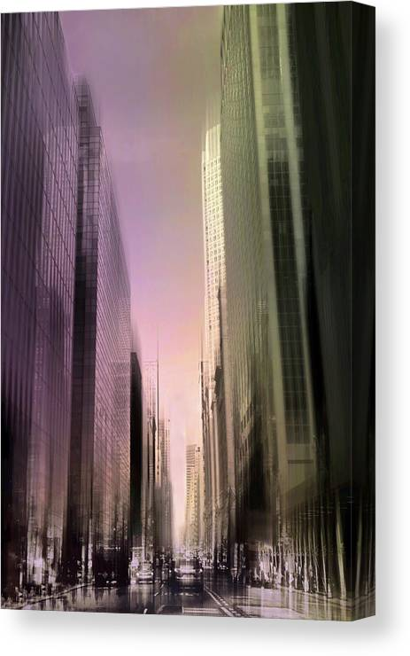 Metropolis Canvas Print featuring the photograph Metropolis Sunset by Jessica Jenney