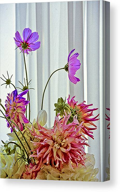 Flowers Canvas Print featuring the photograph More Formal Flowers by John Toxey
