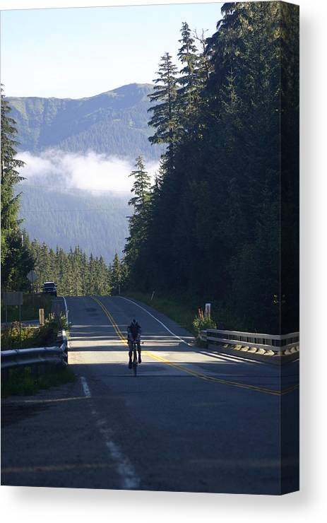 Juneau Canvas Print featuring the photograph Mountain Ride by Jeffrey Ober