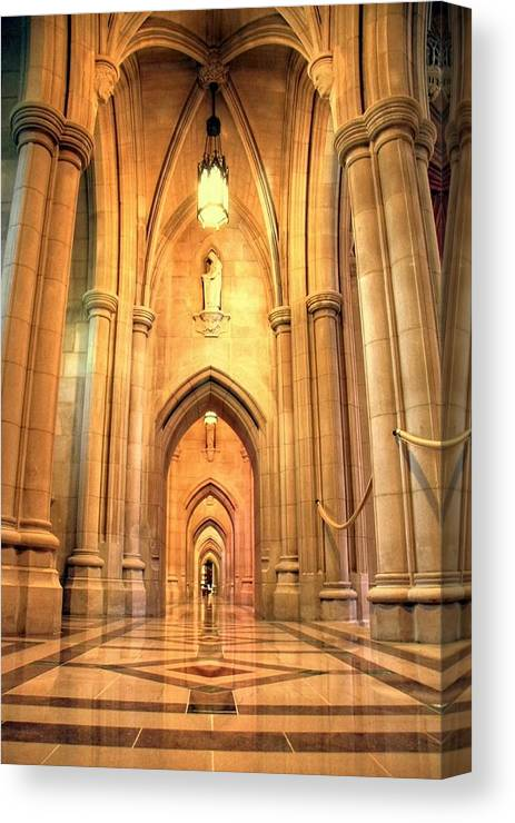 Church Canvas Print featuring the photograph National Cathedral by Mitch Cat