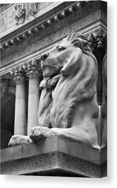 New York Library Canvas Print featuring the photograph New York Public Library by Heidi Reyher
