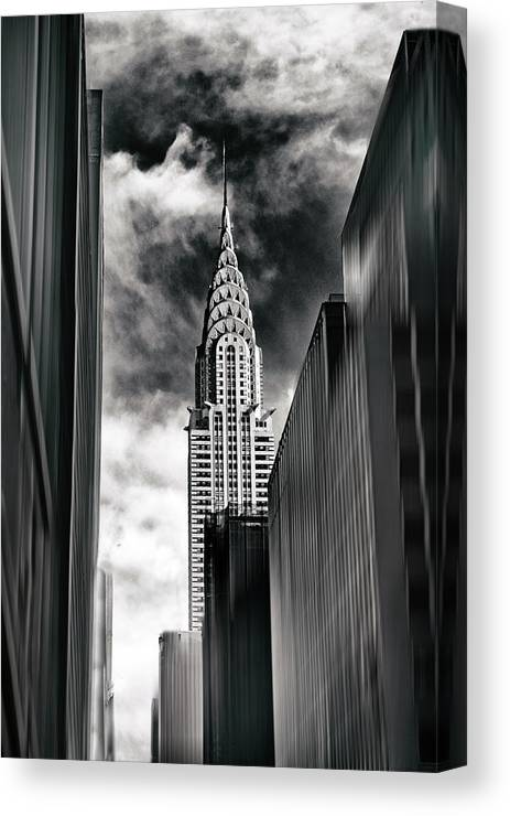 Chrysler Building Canvas Print featuring the photograph New York State Of Mind by Jessica Jenney