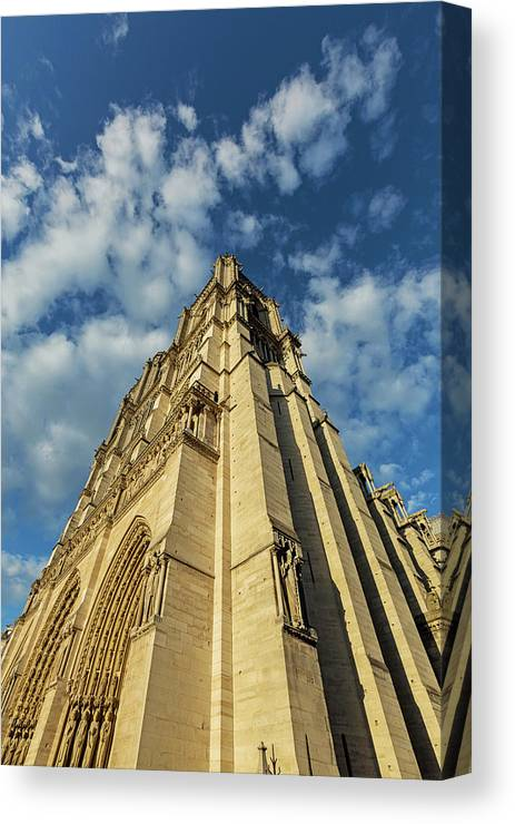 Paris Color Photography Canvas Print featuring the photograph Notre Dame Angles In Color - Paris, France by Melanie Alexandra Price
