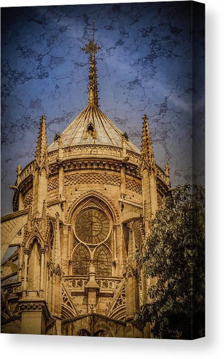 France Canvas Print featuring the photograph Paris, France - Notre-dame De Paris - Apse by Mark Forte