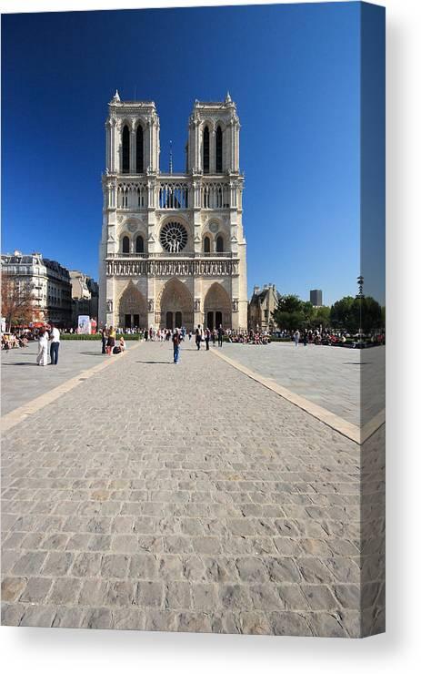 Notre Dame Canvas Print featuring the photograph Notre Dame De Paris Cathedral by Pierre Leclerc Photography