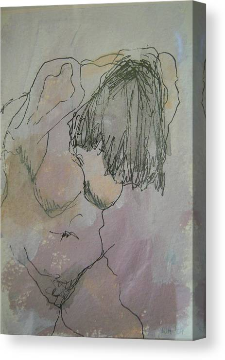 Nude Canvas Print featuring the painting Nude Study One by Wendy Head