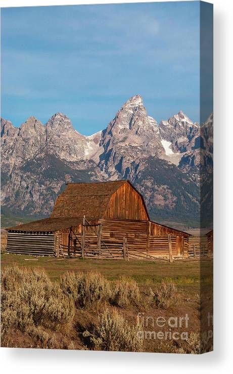 Jackson Hole Canvas Print featuring the photograph Old Wood Barn by Bob Phillips