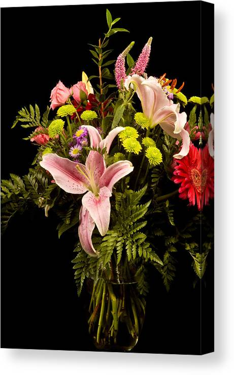 Flower Canvas Print featuring the photograph Orchid Arrangement In Color by David Thompson