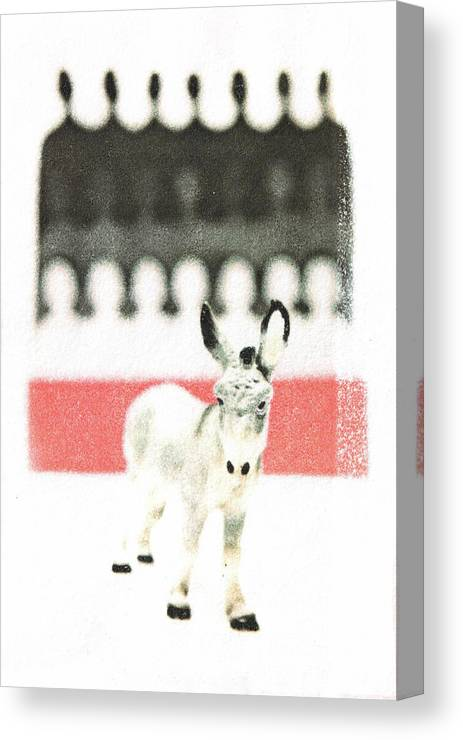 Animal Canvas Print featuring the mixed media Outcast by Kimberly Lavon
