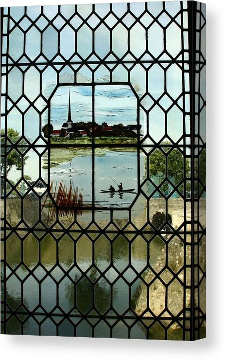 Architecture Canvas Print featuring the photograph Overlooking The Loire by Mary McGrath