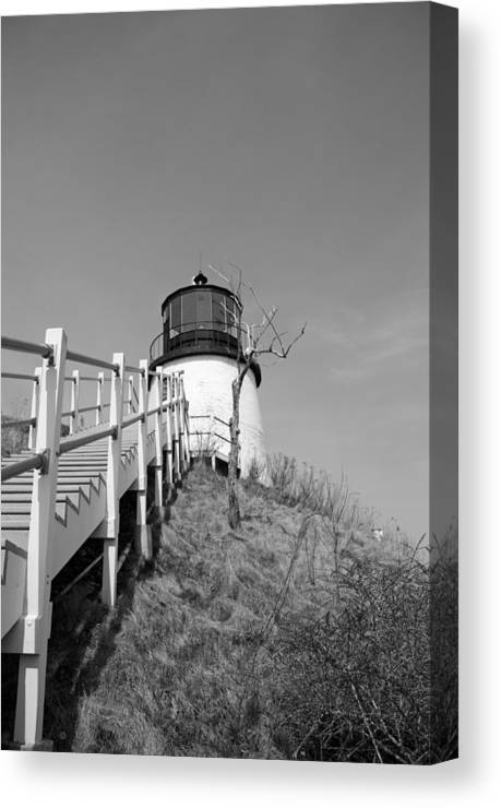 Lighthouse Canvas Print featuring the photograph Owl's Head Light by Becca Wilcox