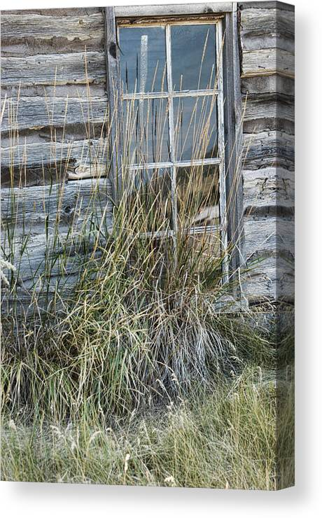 Window Canvas Print featuring the photograph Panes Of The Past by Jody Lovejoy