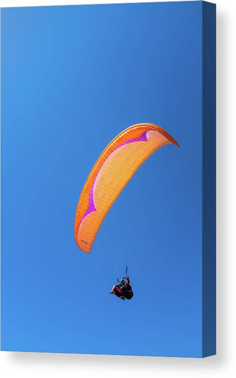 Glider Port Canvas Print featuring the photograph Paragliding by Joseph Smith