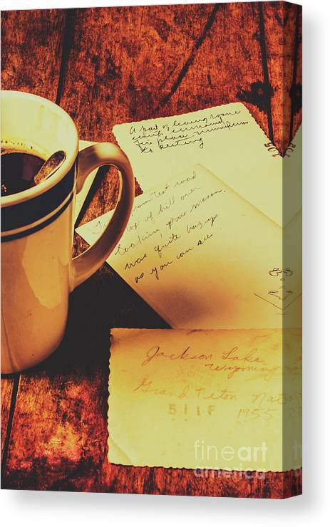 Cup Canvas Print featuring the photograph Past Postcard Preoccupations by Jorgo Photography - Wall Art Gallery