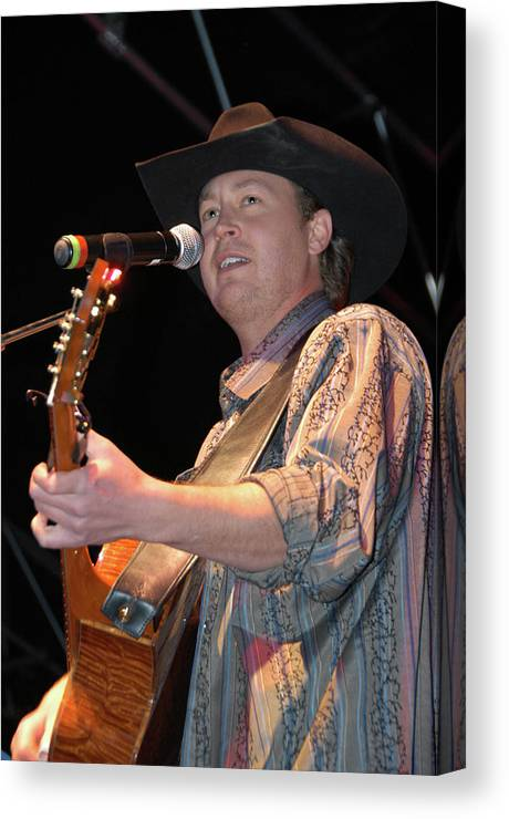 Concerts Canvas Print featuring the photograph Paul Brandt by Marj Beach