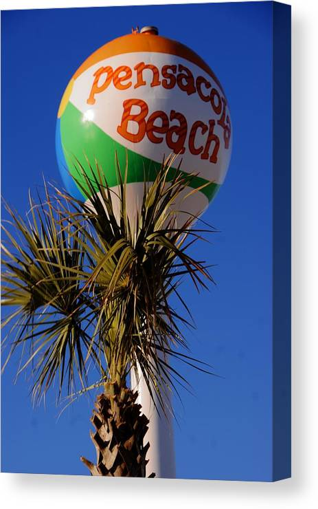 Pensacola Canvas Print featuring the photograph Pensacola Beach Ball by Paul Lindner