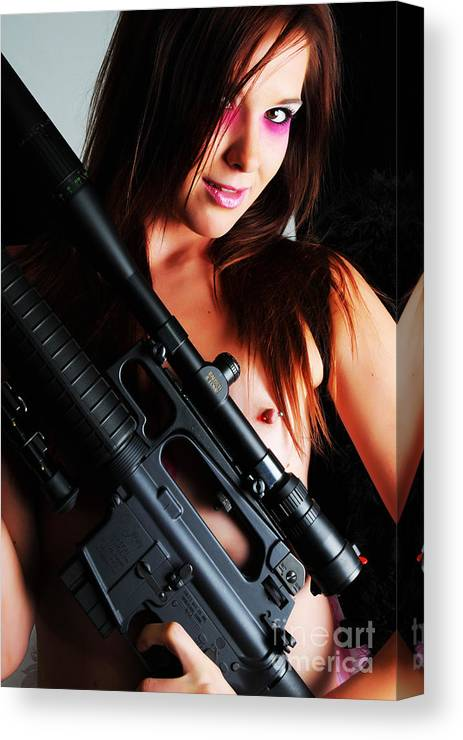 Artistic Photographs Canvas Print featuring the photograph Pink Sniper by Robert WK Clark