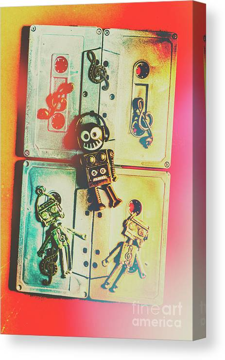 Pop Canvas Print featuring the photograph Pop Art Music Robot by Jorgo Photography - Wall Art Gallery