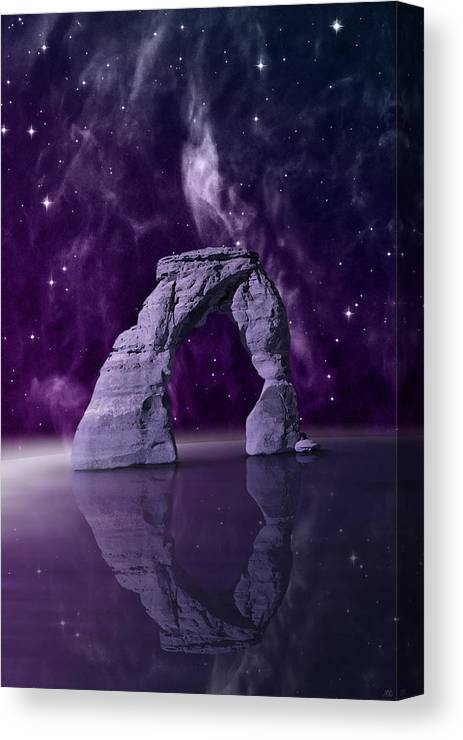 Stone Arch Canvas Print featuring the digital art Portal by Moira Risen