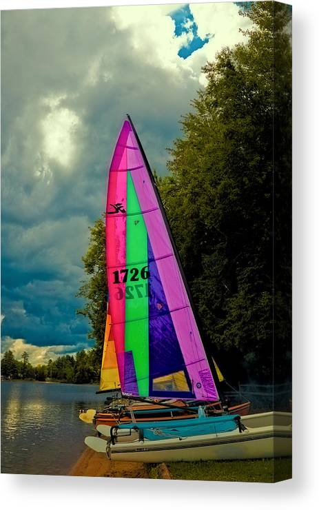 Ready To Sail Canvas Print featuring the photograph Ready To Sail by David Patterson