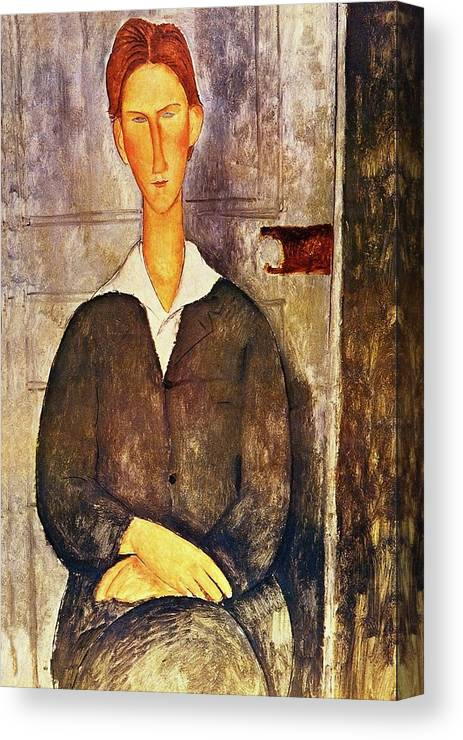 cd7351bfcff Red Haired Young Man Canvas Print featuring the painting Red Haired Young  Man Amedeo Modigliani 1906