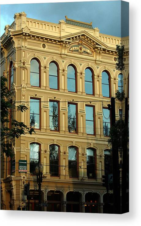 Portland Oregon Canvas Print featuring the photograph Reflecting On Portland by Heather S Huston