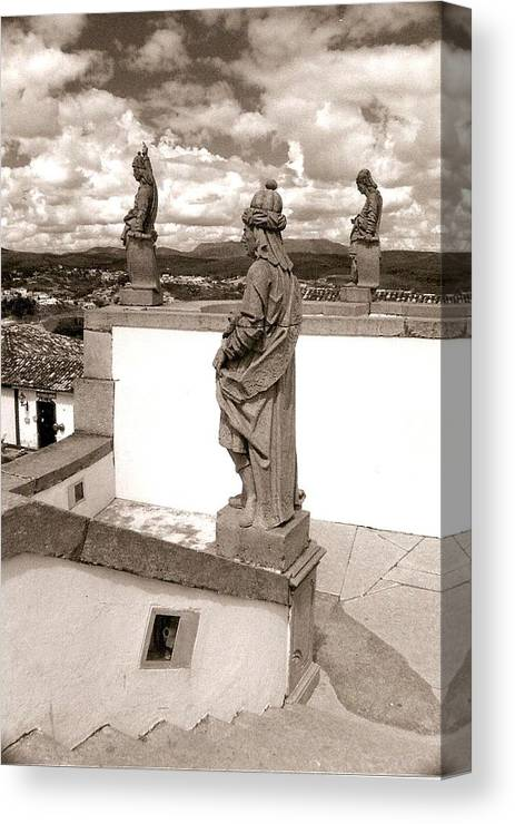 Photograph Canvas Print featuring the photograph Saints Watch by Patricia Bigelow
