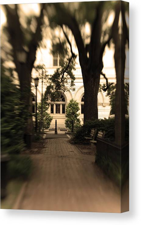 Photo Canvas Print featuring the photograph Savannah Square by Sandy Belk