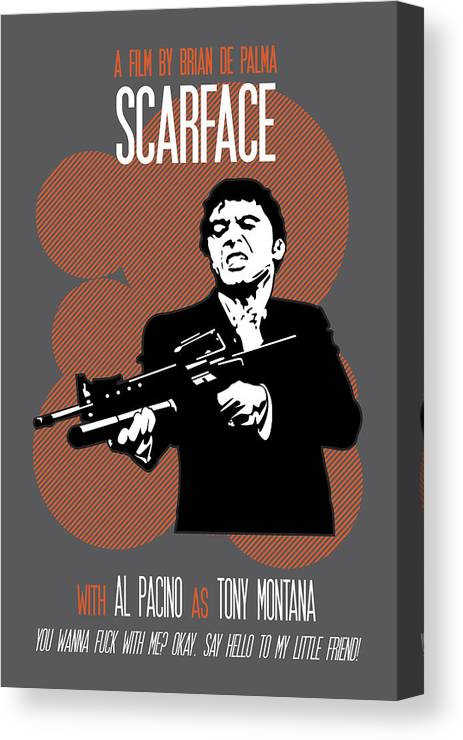 Scarface Poster Tony Montana Print Quote Say Hello To My Little