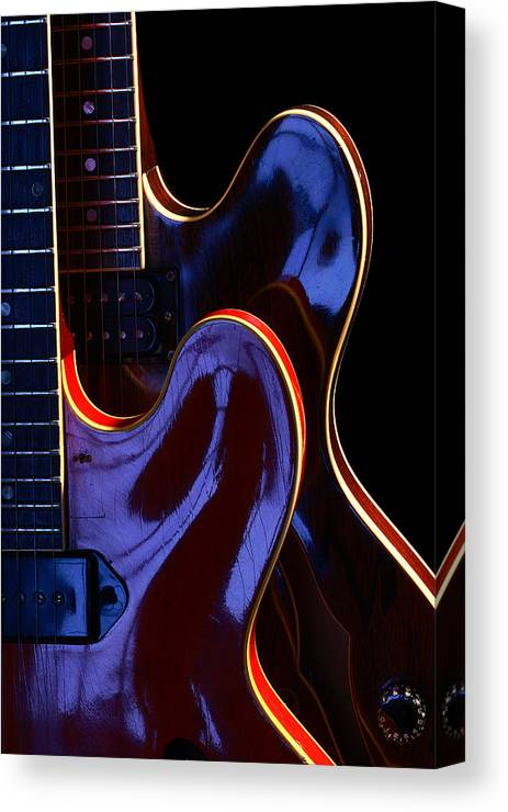 Guitar Canvas Print featuring the photograph Screaming Guitars by Art Ferrier