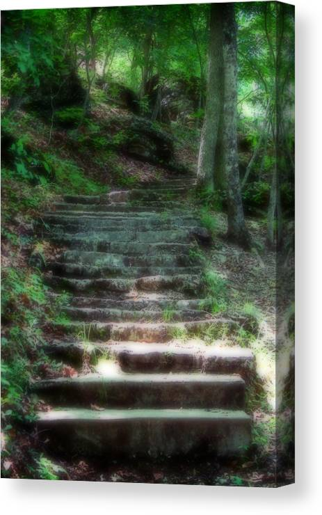 Stairs Canvas Print featuring the photograph Second Ethereality by Carl Perry