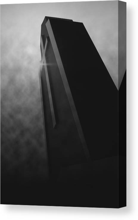 Black Canvas Print featuring the photograph 'shining Intrigue I' by Adam M Dee