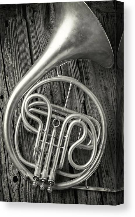 French Canvas Print featuring the photograph Silver French Horn by Garry Gay