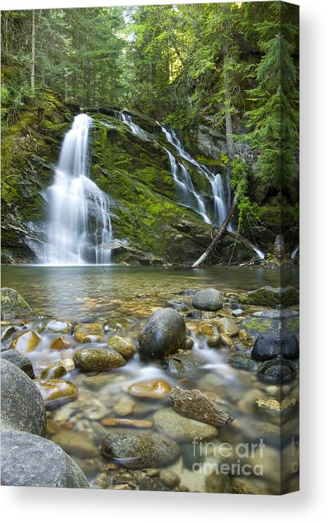 Waterfall Canvas Print featuring the photograph Snow Creek Falls by Idaho Scenic Images Linda Lantzy