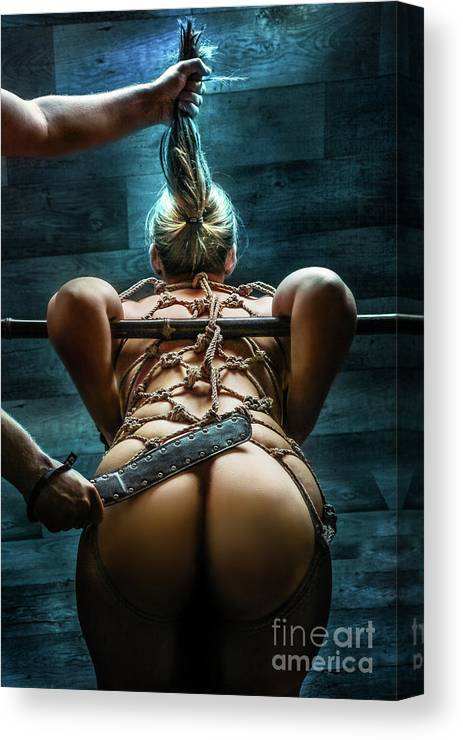 Spanking Canvas Print featuring the photograph Spanking - Fine Art Of Bondage by Rod Meier