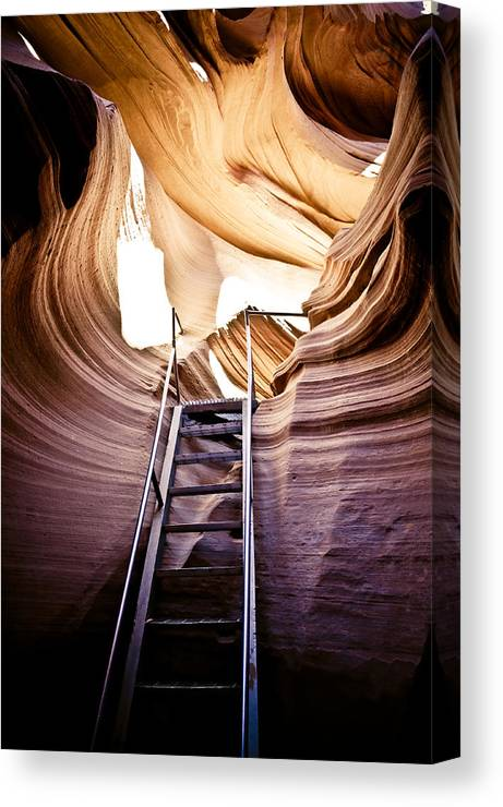 Canyon Canvas Print featuring the photograph Stairs From Chaos by Scott Sawyer